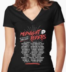 Midnight Riders - No Salvation Tour Women's Fitted V-Neck T-Shirt