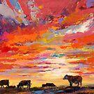 «Atardecer en la granja» de Jos Coufreur