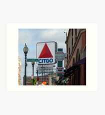 Citgo Sign At Fenway Park Art Print