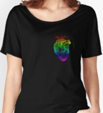 Rainbow Heart Women's Relaxed Fit T-Shirt