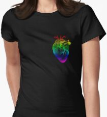 Rainbow Heart Women's Fitted T-Shirt