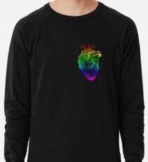 Regenbogen Herz Leichter Pullover