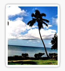 Tropical Palm Tree Sunset Sticker