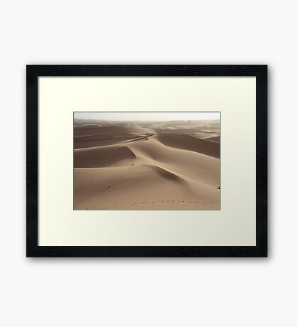 Footprints in the sand (Sahara, Morocco) Framed Print