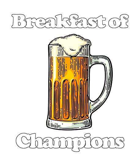 00434532f Beer Breakfast of Champions T-shirt