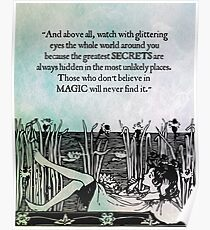 Roald Dahl - Watch with Glittering Eyes Poster