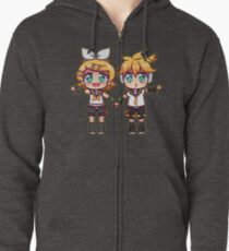 Twins Rin and Len Zipped Hoodie