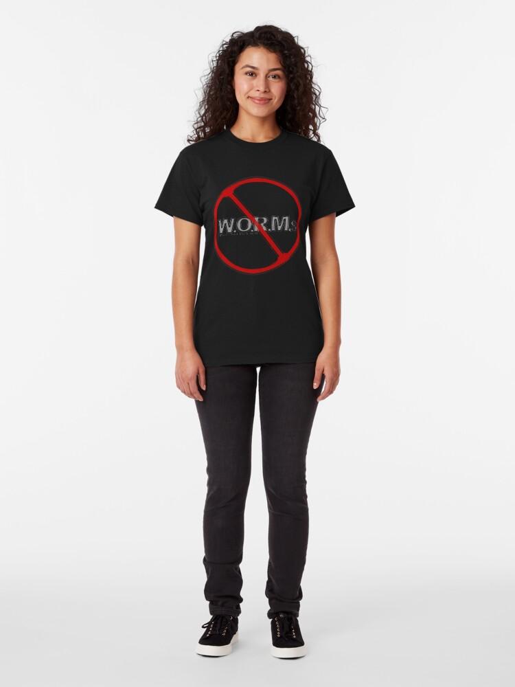 Alternate view of NO W.O.R.M.s Classic T-Shirt