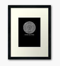 inveniam viam aut faciam (Shadow) Framed Print