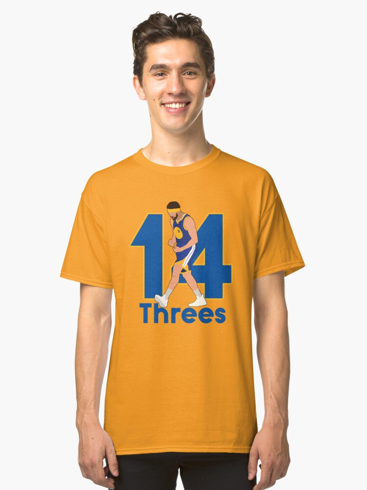 newest dbdcf e19ae Klay Thompson 14 Threes - Golden State Warriors | Classic T-Shirt