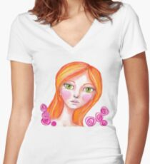 Just Rosy Women's Fitted V-Neck T-Shirt