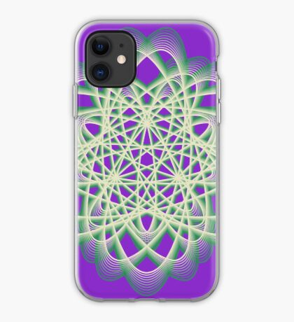 Abstract Sea Green Spiral Lines iPhone Case