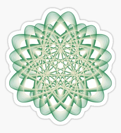 Abstract Sea Green Spiral Lines Sticker