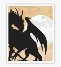 Tolkien - Smaug - Dragon against the Moon Sticker