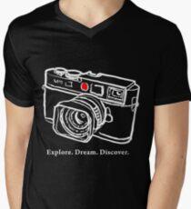 Leica M9 red dot rangefinder camera T-Shirt Mens V-Neck T-Shirt