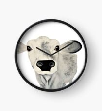Curious Chianina Cow Clock