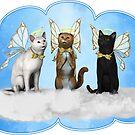 Angel Kitty Choir by 2HivelysArt