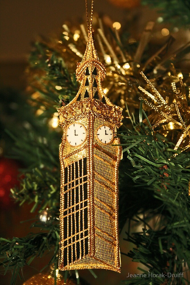 Christmas - Big Ben by Jeanne Horak-Druiff