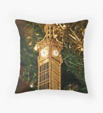 Christmas - Big Ben Throw Pillow