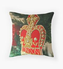Christmas - London Throw Pillow