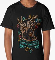 Christmas Deer Long T-Shirt
