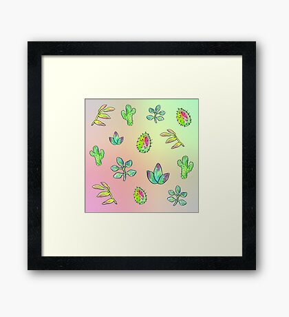 Succulents and Cacti Framed Print