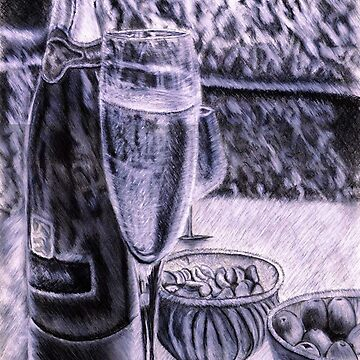 Champagne, Olives, and Nuts by steventorrisi