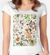 Biologie 101 Tailliertes Rundhals-Shirt