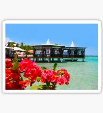 Postcard from Tahiti - Eden on Earth Sticker
