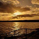 Autumn evening sunset. by Finbarr Reilly