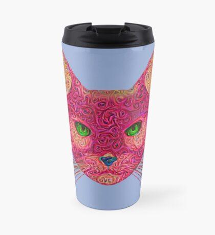 Rose Hungry Cat Travel Mug