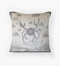 Cyber Crab Throw Pillow