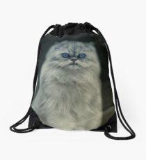 The cat Drawstring Bag