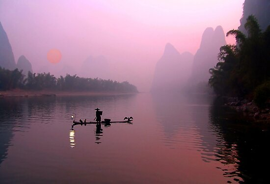 LI RIVER SUNRISE by Michael Sheridan