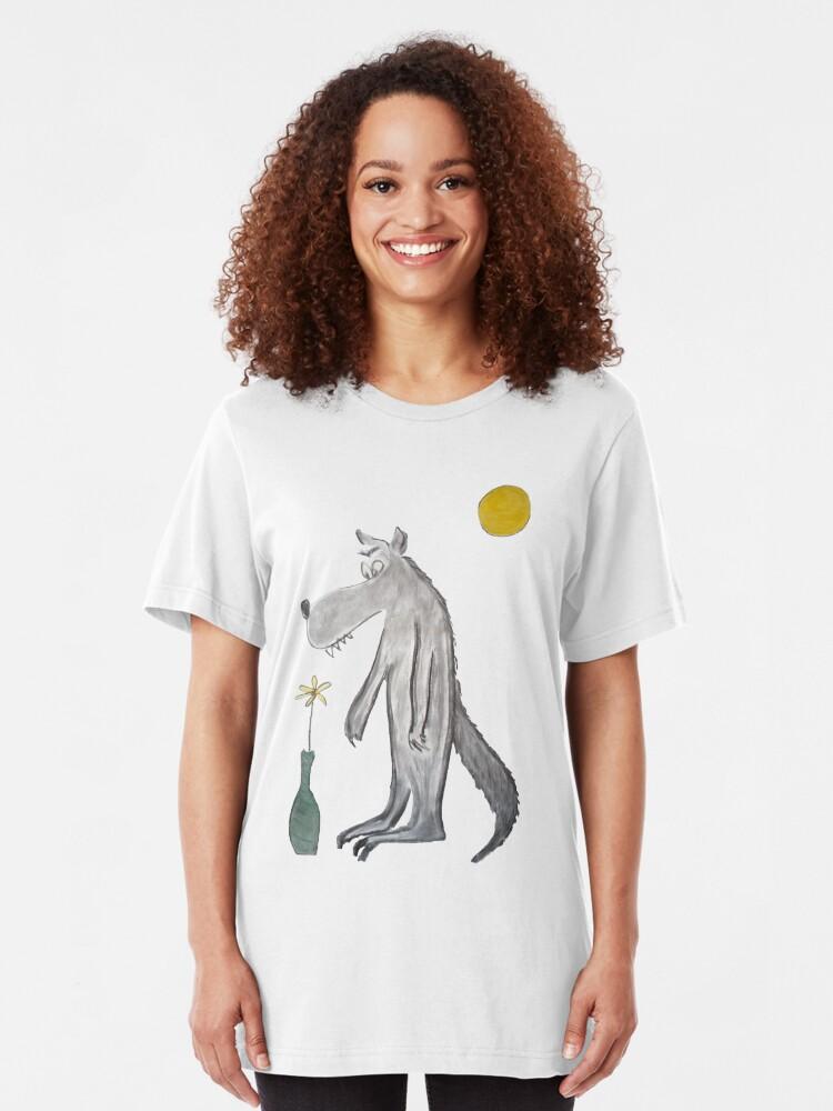 Alternate view of Romantic wolf Slim Fit T-Shirt
