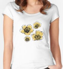 Yellow Buttercups Fitted Scoop T-Shirt