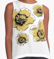 Yellow Buttercups Sleeveless Top