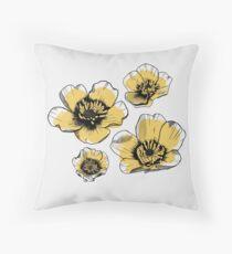 Yellow Buttercups Floor Pillow