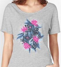 Hidden Creatures - Pink / Grey Women's Relaxed Fit T-Shirt