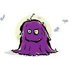 hairy purple creature by greendeer
