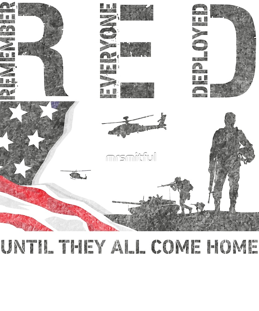 db8c4c919 Red Friday Shirts For Veteran Military Remember Everyone Deployed T-Shirt  Gift