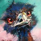 «Emu sobre fondo suave pastel.» de Jos Coufreur