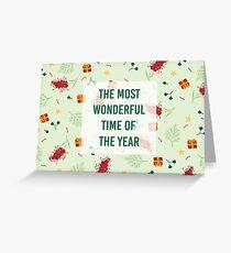 Australian Native Flower Christmas Card Greeting Card