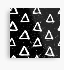 Triangle Doodle Pattern Metal Print