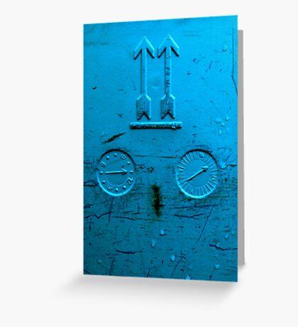 blue gauge Greeting Card