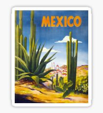 Mexico Vintage Poster Restored Sticker