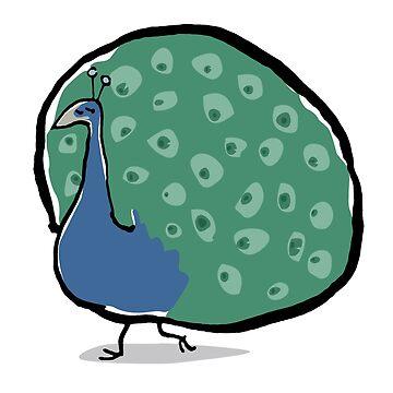 peacock by greendeer