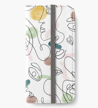One Line Portraits #redbubble #figurative iPhone Wallet