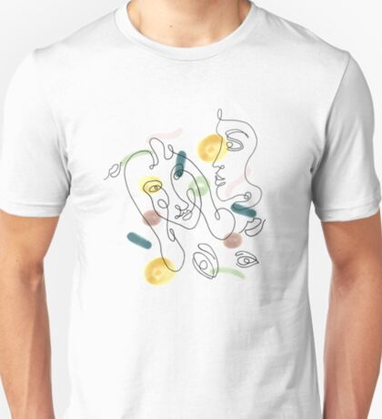 One Line Portraits #redbubble #figurative T-Shirt