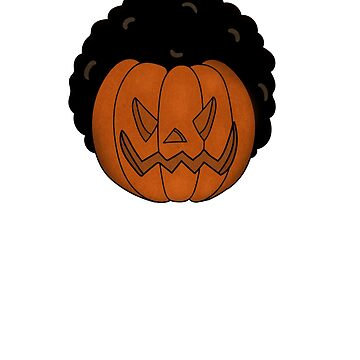 Afro Pumpkin Funny Halloween Black African by dukito